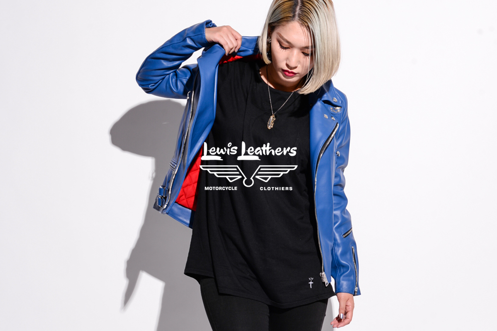 Wearing Lewis Leathers